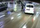 Лиепайские полицейские протаранили столб (видео)