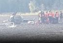 Видео упавшего во время ралли вертолета