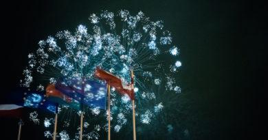 Праздничный концерт и салют в Лиепае (фото, видео)