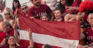 Uz priekšu, Latvija! Латвия, вперед!