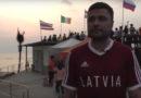 Марис Верпаковскис о первых результатах турнира по пляжному футболу в Таиланде