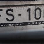 В Лиепае утерян гос.номер FS 1005