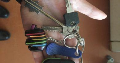 На пляже найдена связка ключей
