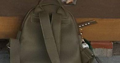 В Тосмаре утерян зеленый рюкзак, верните за вознаграждение!