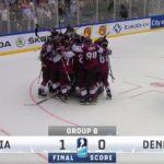 Сборная Латвии обыграла Данию и пробилась в четвертьфинал (видео)