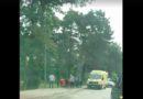 Автобус задел женщину, выбежавшую на проезжую часть