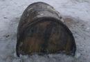 Недалеко от Лиепаи на берег вынесло старинную бочку