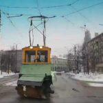 """""""Старейшина"""" трамвайного депо исправно чистит рельсы (видео)"""