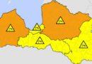 В Курземе синоптики объявили оранжевое предупреждение