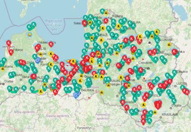 Ремонты дорог — по всей Латвии: карта