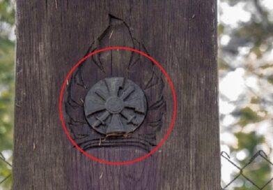 С могилы полковника Латвийской армии Кукиса похитили бронзовое изображение ордена