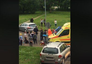 ДТП на улице Виршу: ребенок на скейтборде врезался в автомобиль