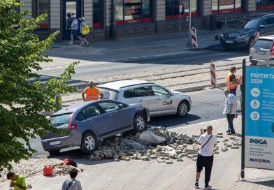 ДТП в центре Лиепаи: водитель перепутала педали