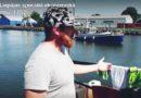 В Лиепаю зашла яхта пережившая три шторма и аварию (видео)