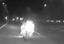 Пьяный мотоциклист убегал от полиции по полю