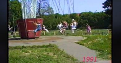 Лиепая. Приморский парк. 1991 год (видео)